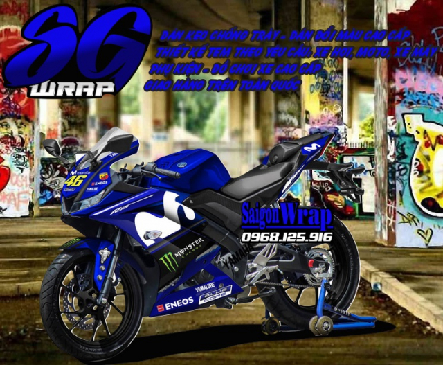 Tem Che Yamaha R15 V3 Dep Doc SaiGonWRAP Design Thi Cong Tem Xe Chuyen Nghiep - 8