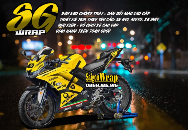 Tem Che Yamaha R15 V3 Dep Doc SaiGonWRAP Design Thi Cong Tem Xe Chuyen Nghiep - 14