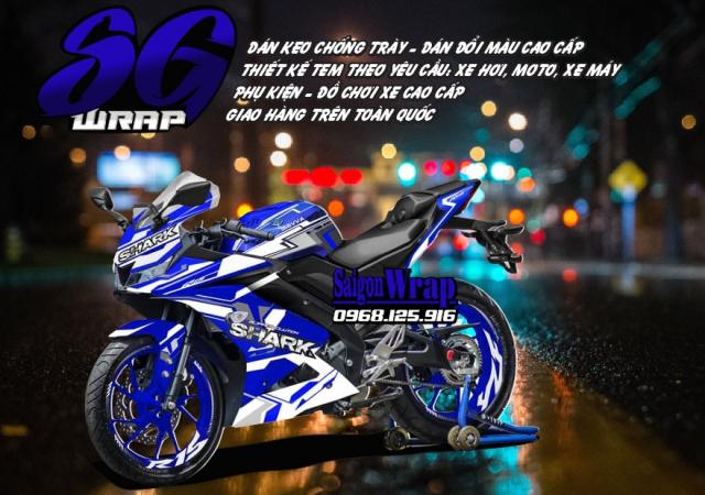 Tem Che Yamaha R15 V3 Dep Doc SaiGonWRAP Design Thi Cong Tem Xe Chuyen Nghiep - 16