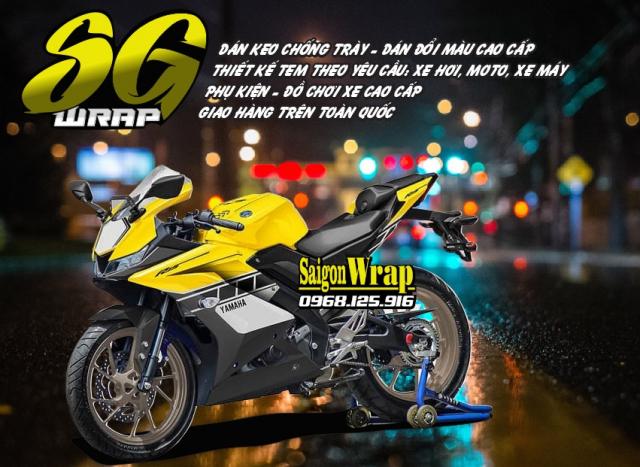 Tem Che Yamaha R15 V3 Dep Doc SaiGonWRAP Design Thi Cong Tem Xe Chuyen Nghiep - 17