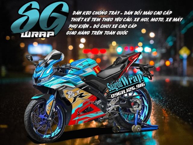 Tem Che Yamaha R15 V3 Dep Doc SaiGonWRAP Design Thi Cong Tem Xe Chuyen Nghiep - 22