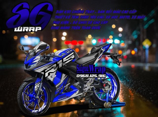 Tem Che Yamaha R15 V3 Dep Doc SaiGonWRAP Design Thi Cong Tem Xe Chuyen Nghiep - 34