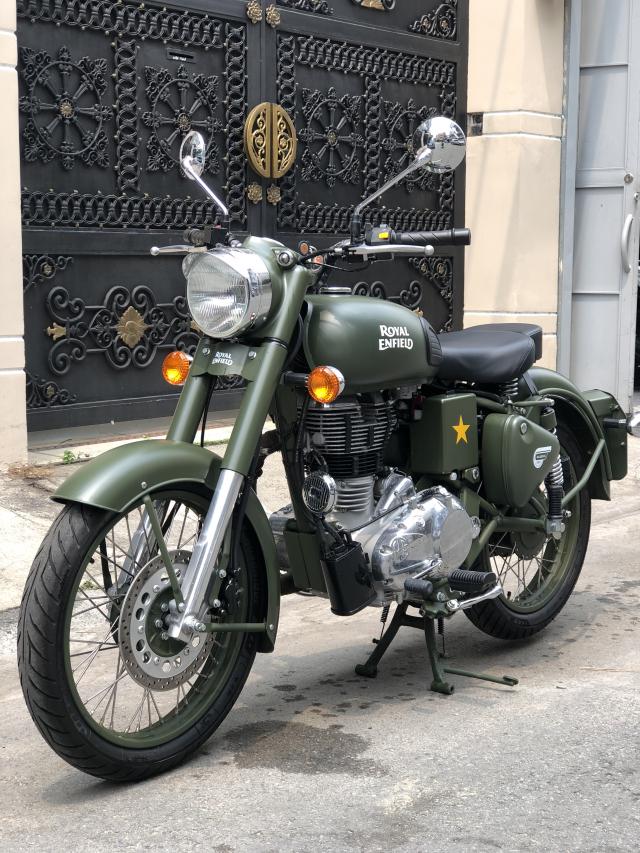 __ Can Ban xe Royal Enfield Battle Green 500cc Mau xanh quan doi la mau nguyen thuy cua Royal Enfie - 3