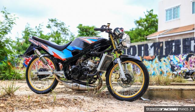 Ha hoc voi Kawasaki Victor 150 do dinh khoe dang ben son Grunge Graffiti - 4