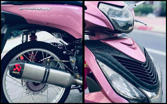 Honda Vision do tao diem nhan bang hoi tho Akrapovic day uy luc