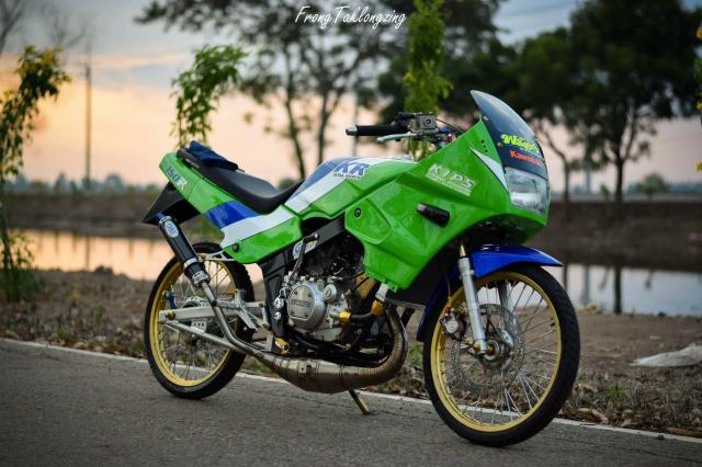 Kawasaki Kips 150 chien binh xanh la mang doi chan sieu khiep - 3