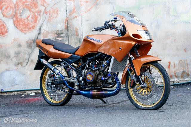 Kawasaki KRR ZX150 Trong ban do dam chat Racing den tu Xu chua vang - 21