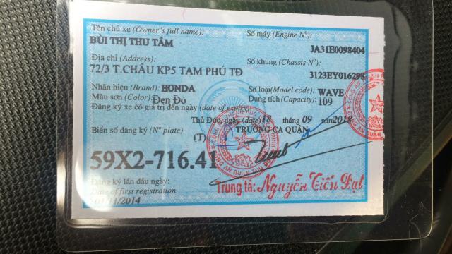 Xe wave rsx doi 2014 chinh chu banh mam thang dia