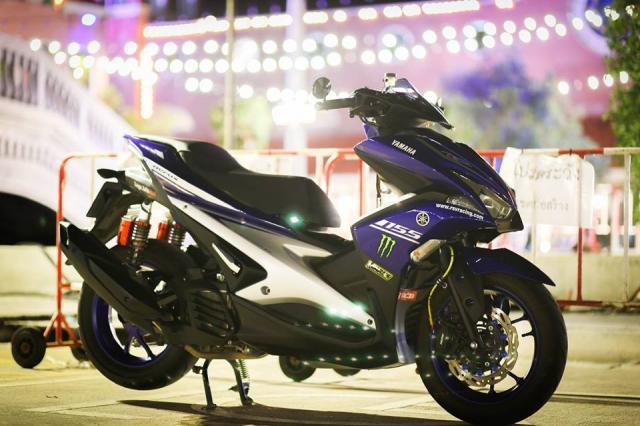 Yamaha Aerox ban do Movistar den tu Thai Lan - 7