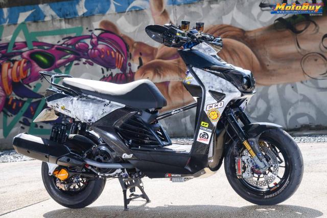 Yamaha BWS 125 2018 do dan chan doc nhat vu tru cua biker xu Dai - 3