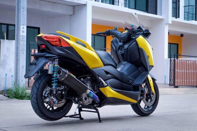 Yamaha XMax300 hoan thien voi nang cap khung