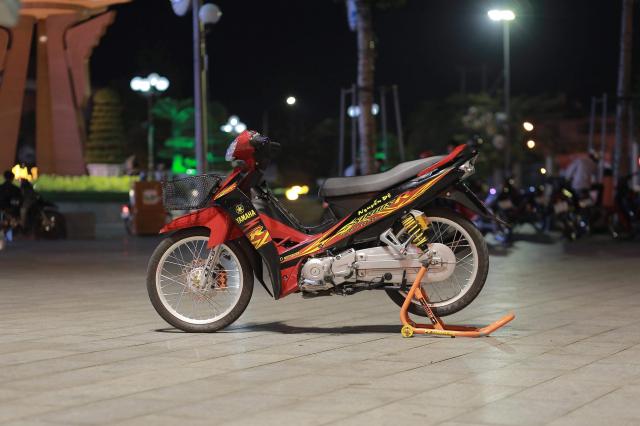 Sirius 110 do dan chan ben nhu luoi lam cua biker Bac Lieu - 3