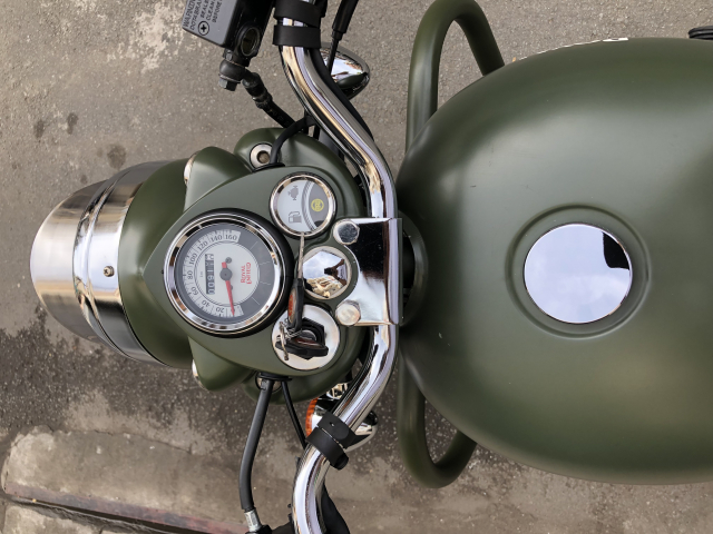 __Can Ban Xe Royal Enfield Classic 500cc Ban dat biet mau xanh quan doi mac hon mau thuong HQCN - 6