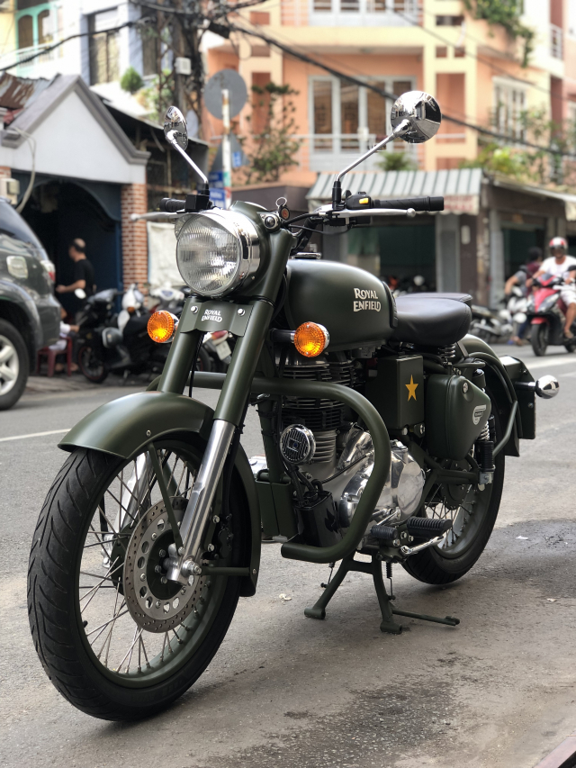 __Can Ban Xe Royal Enfield Classic 500cc Ban dat biet mau xanh quan doi mac hon mau thuong HQCN - 7