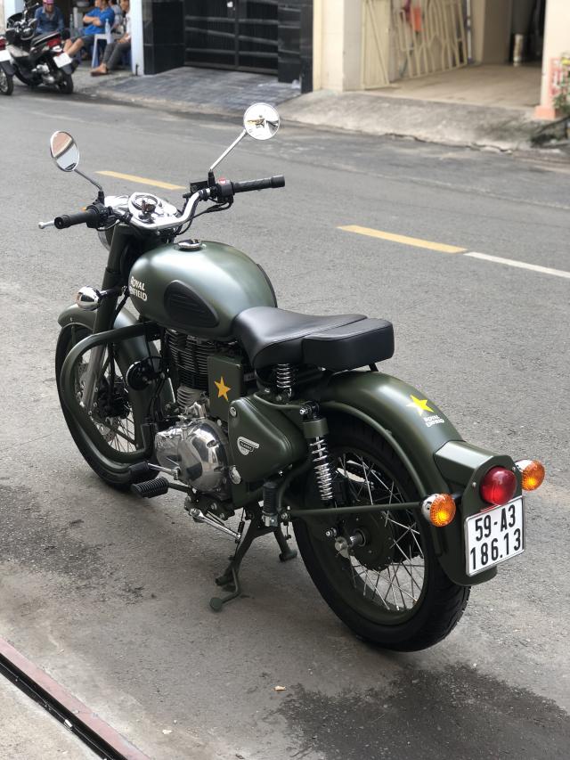 __Can Ban Xe Royal Enfield Classic 500cc Ban dat biet mau xanh quan doi mac hon mau thuong HQCN - 8