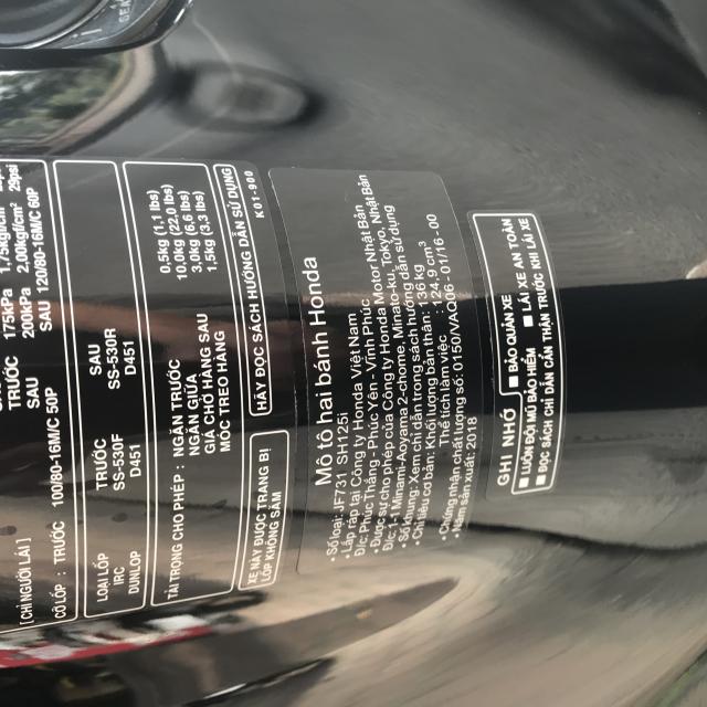 Ban SH Viet 125 phanh ABS 102018 mau den Qua moi - 7