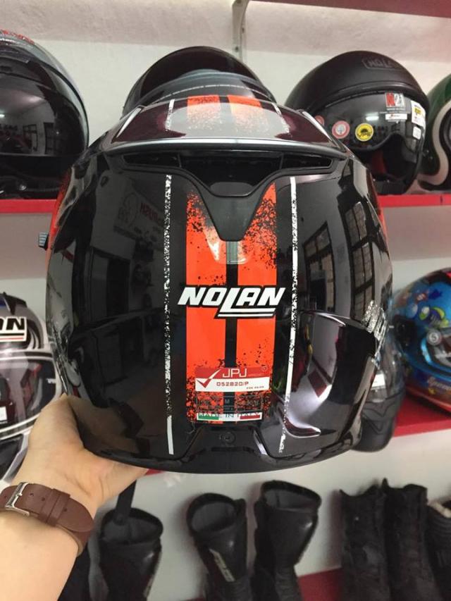 MTstore Nolan N87 Fulgor Metal Black Orange - 2