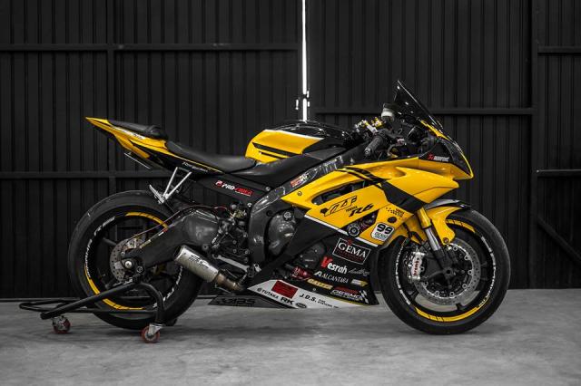 Yamaha R6 do hop hon nguoi ham mo voi phong cach Yellow Sporty tren dat Viet - 7