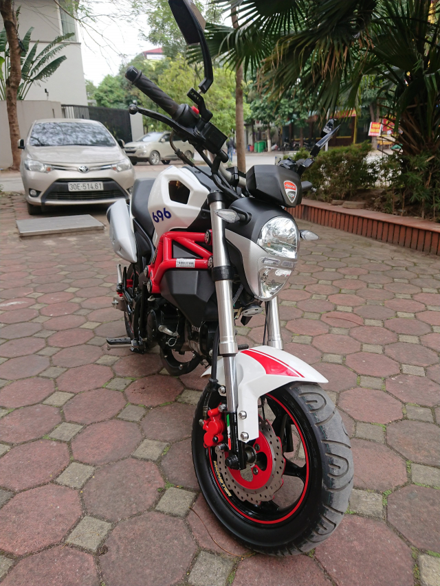 Ban Ducati 110 mini Monster 2017 nguyen ban nhu moi 4000km - 2