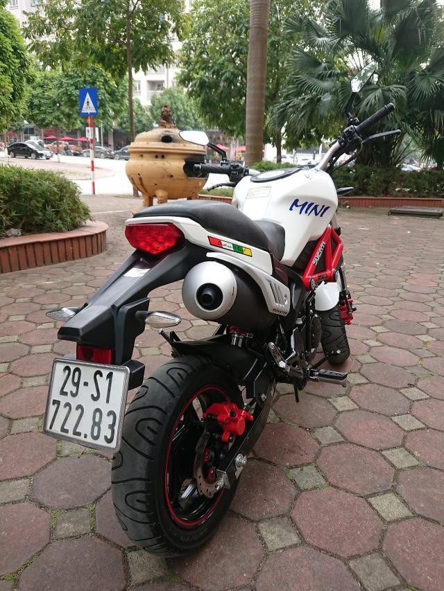 Ban Ducati 110 mini Monster 2017 nguyen ban nhu moi 4000km - 3