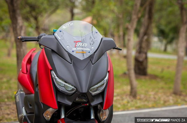 Cap doi Yamaha XMax300 do noi bat voi he mam CNC Over Racing cao cap - 5
