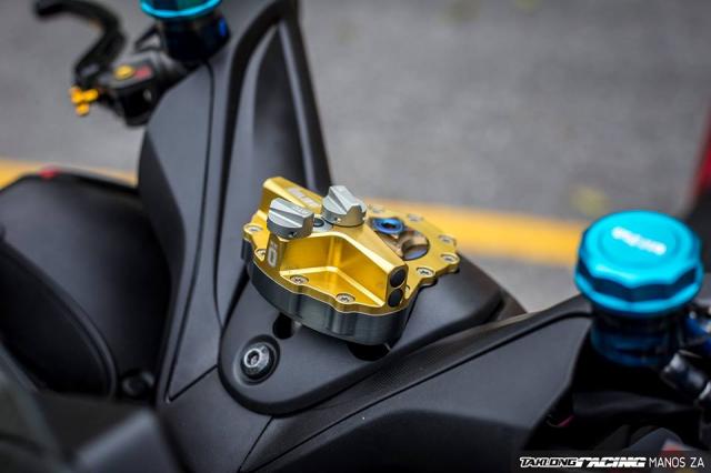 Cap doi Yamaha XMax300 do noi bat voi he mam CNC Over Racing cao cap - 7