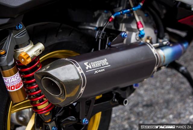 Cap doi Yamaha XMax300 do noi bat voi he mam CNC Over Racing cao cap - 16