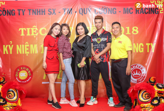 Cong ty TNHH SX TM Quy Cuong MC Racing to chuc buoi tiec tat nien 2018 - 19