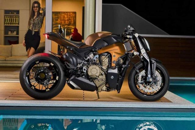 Ducati V4 Penta do Streetfighter dau tien den tu GP Design Luxury Snack