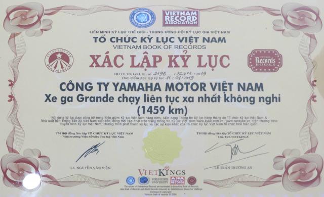 Grande Hybrid xac lap 2 ky luc Viet Nam cho Yamaha Motor - 9