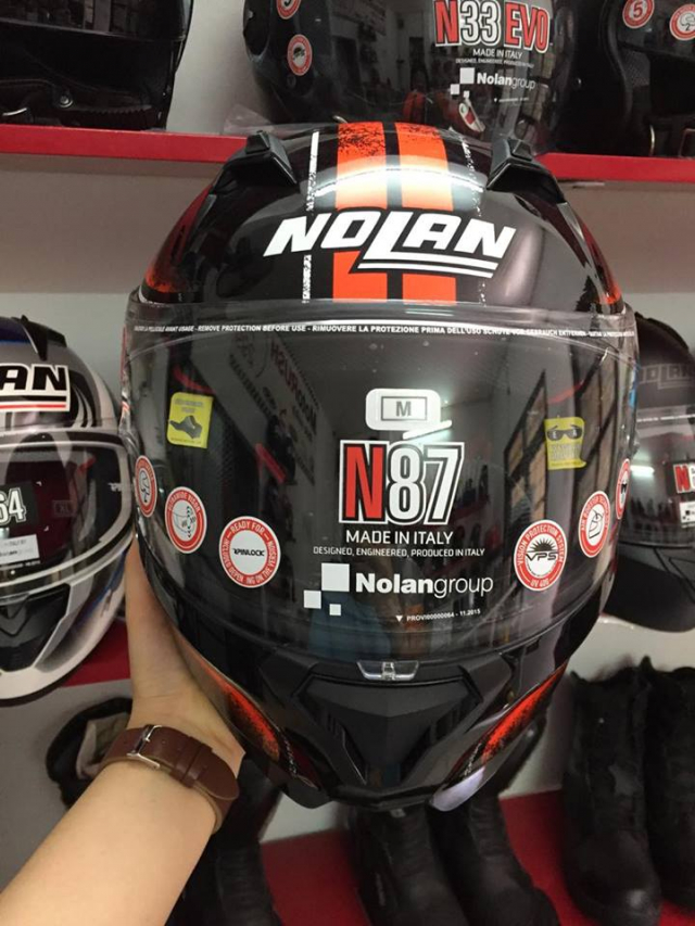 MTstore Nolan N87 Fulgor Metal Black Orange - 5