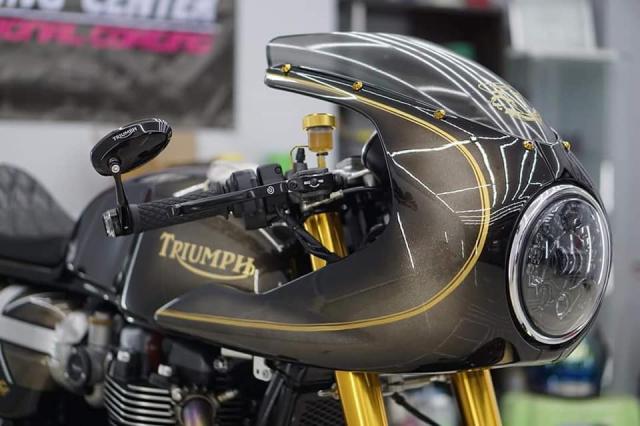 Triumph Thruxton R do ngoan muc voi mau ao Vuong Quoc Anh - 3