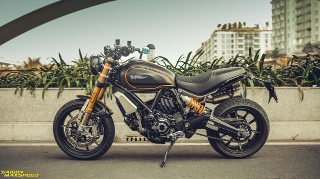 Ducati Scrambler 1100 Sport do Ve dep thanh lich day ap cong nghe tren duong pho Viet - 3