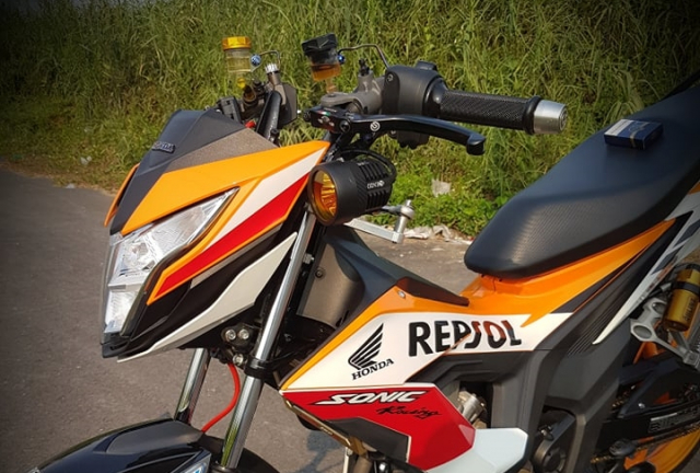 Sonic 150 phien ban Repsol do tao bao cua dan choi Long Xuyen - 5