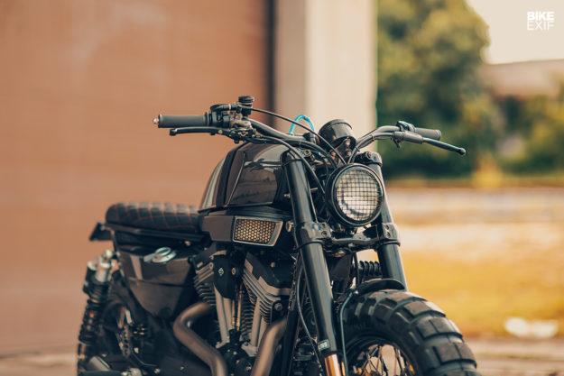 Harley Davidson XR1200X do phong cach Flat Track Racing den tu Cohn Racers - 5