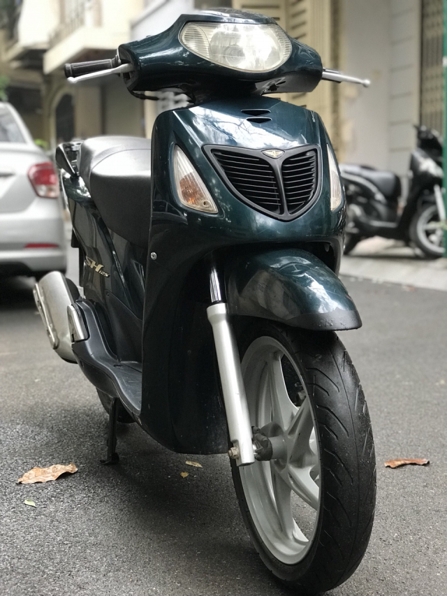 Honda SH mau xanh nhap Y nguyen zin 125 bien HN - 2