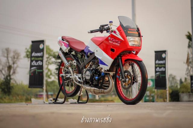 Kawasaki Kips 150 do dan chan mang ve dep kho cuong khoe dang trong nang mai - 3