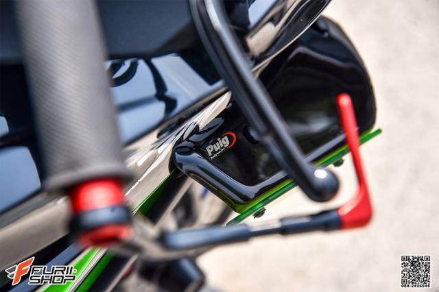 Kawasaki ZX10R do hung bao voi trang bi Winglet Puig dau tien o phien ban duong pho - 7