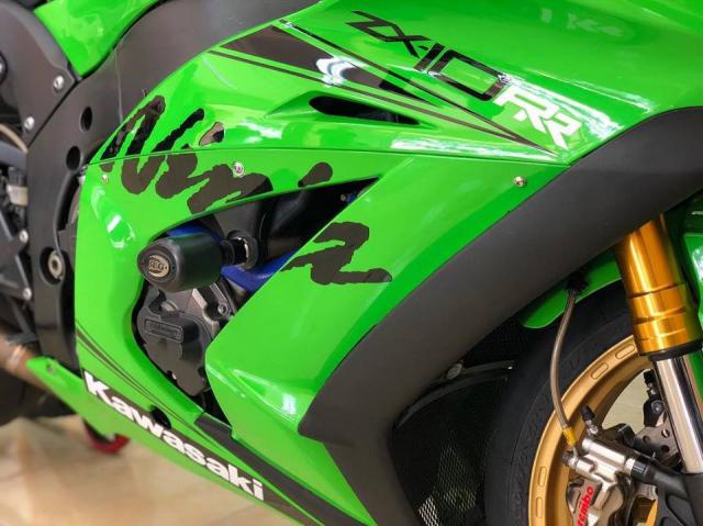 Kawasaki ZX10R phien ban do xanh la dam chat Racing - 3