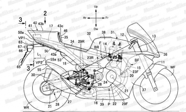 Lo dien hinh anh thiet ke du an Honda V4 canh tranh voi doi thu Ducati Panigale V4 - 3