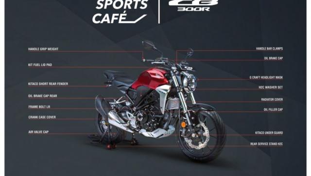 Honda CB300R 2019 chinh thuc duoc ban voi 16 phu kien tuy chon doc lap va 4 bo dung cu tuy chinh - 7