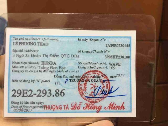 HONDA WAVE 2017 CHINH CHU MOI TOANH - 2