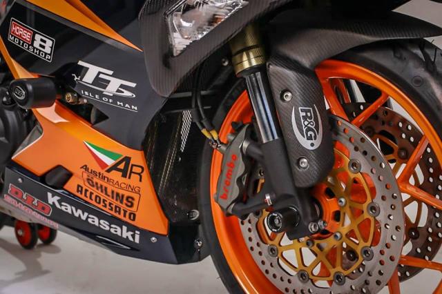 Kawasaki Ninja 250 do cuc khung voi cau hinh duong dua - 5