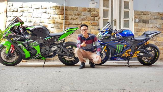 Yamaha R3 do chat ngat voi Team dau Monster Energy MotoGP 2019 cua Biker Viet - 7