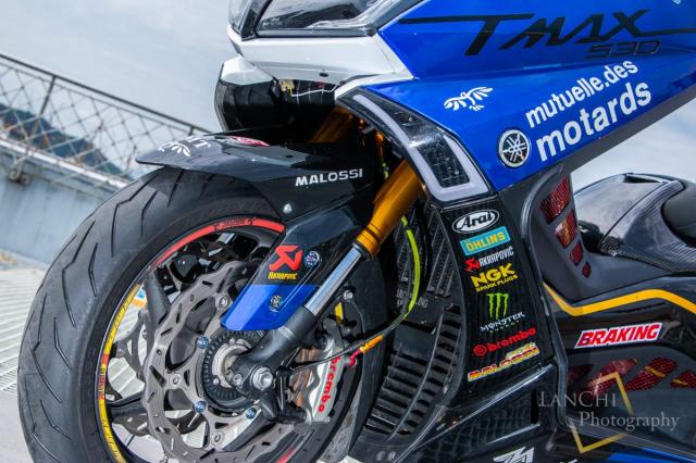 Yamaha TMAX 530 do Turbo cong suat 108 hp dang kinh ngac - 9