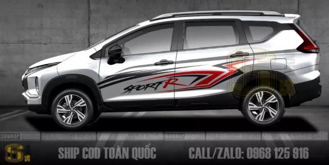 Cac Mau Tem Xe Xpander Cross 2021 Doc Dao Ship Cod Toan Quoc SaiGonWRAP - 10