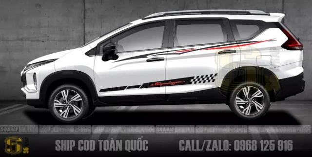 Cac Mau Tem Xe Xpander Cross 2021 Doc Dao Ship Cod Toan Quoc SaiGonWRAP - 6
