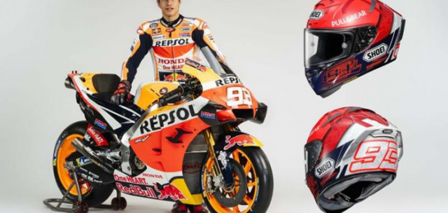 Shoei X14 Marquez 6 ra mat phien ban danh cho Marc Marquez tai MotoGP 2021
