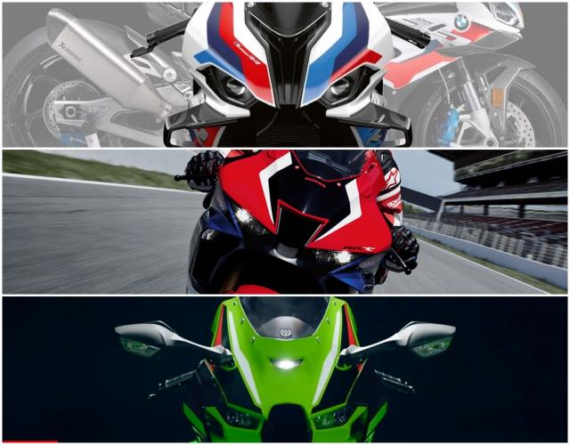 So sanh Honda CBR1000RRR SP BMW M1000RR Kawasaki Ninja ZX10RR