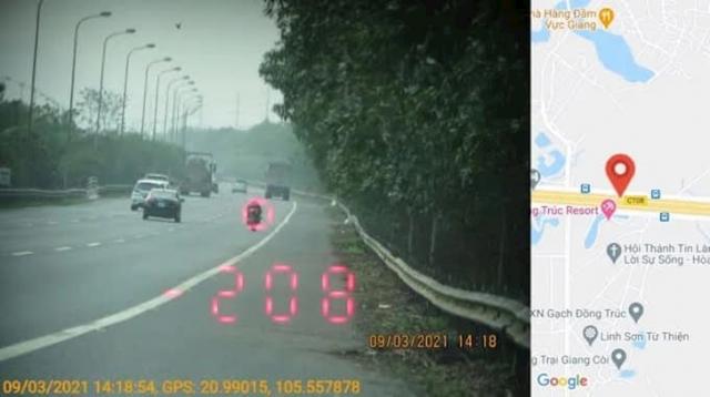 Phat 105 trieu cho hanh vi chay qua toc do 299kmh trong duong cam co du RAN DE - 4